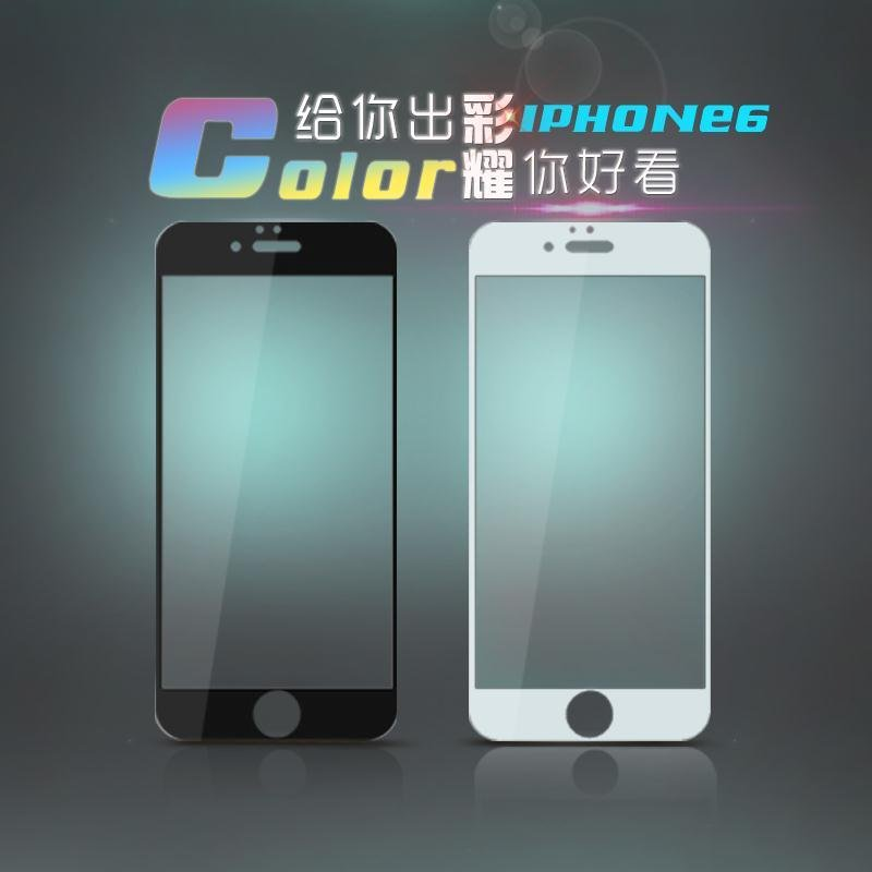 Language school apple 6/s tempered steel membrane film iphone6/6 s tempered steel color film/s mobile phone tempered glass color film mirror