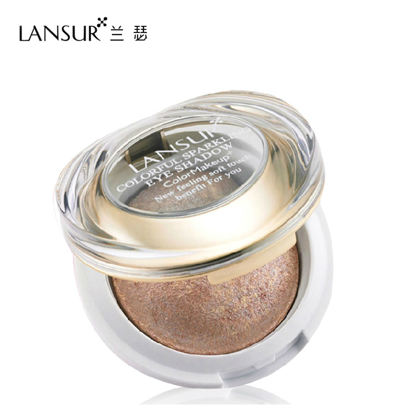Lanser glossy brightly colored eye shadow earth colors off wet and dry baking powder eye shadow makeup counter genuine