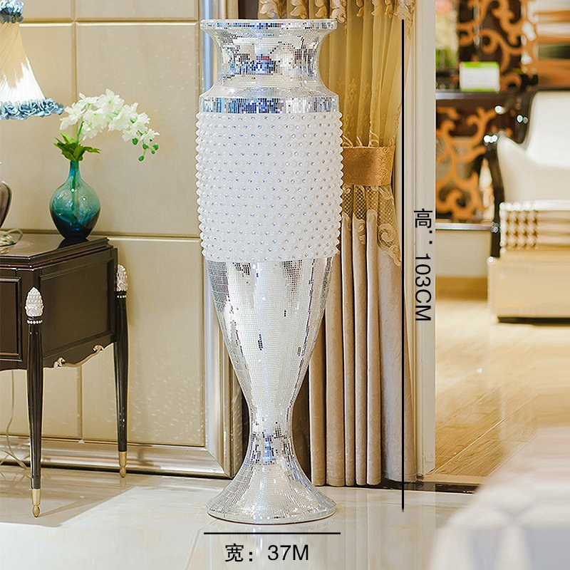 Large european creative resin floor vase modern minimalist living room decorations ornaments hotel clubs villa