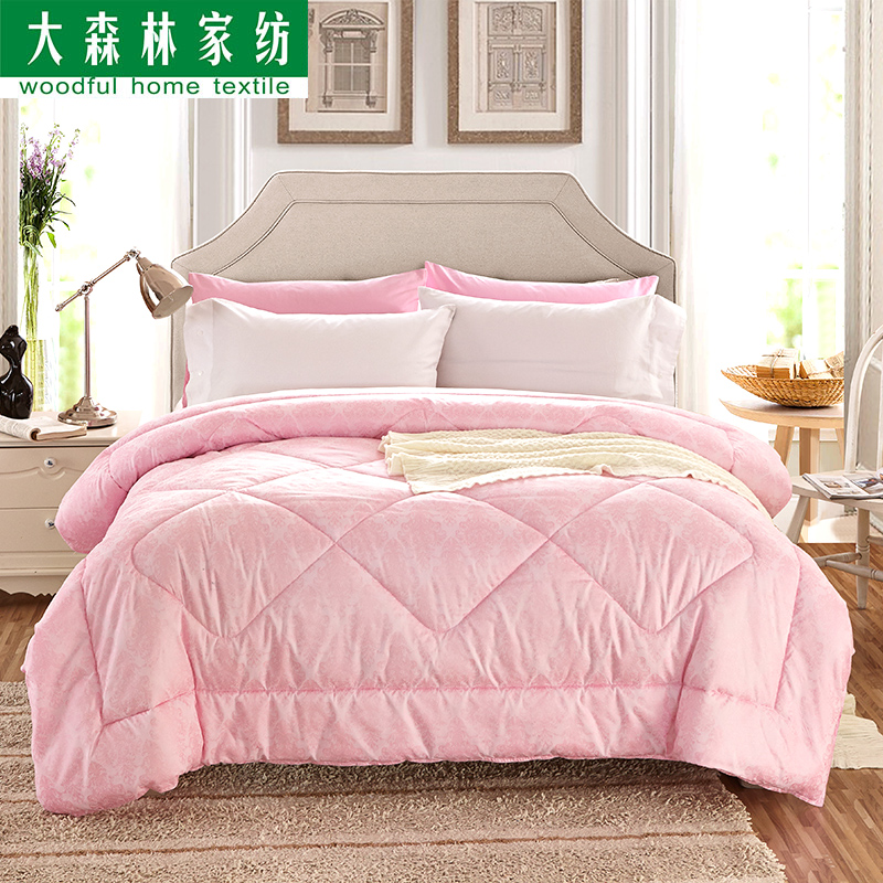 Large forest quilt is the core spring and autumn and winter is thick warm quilts mattress single double student bedding specials