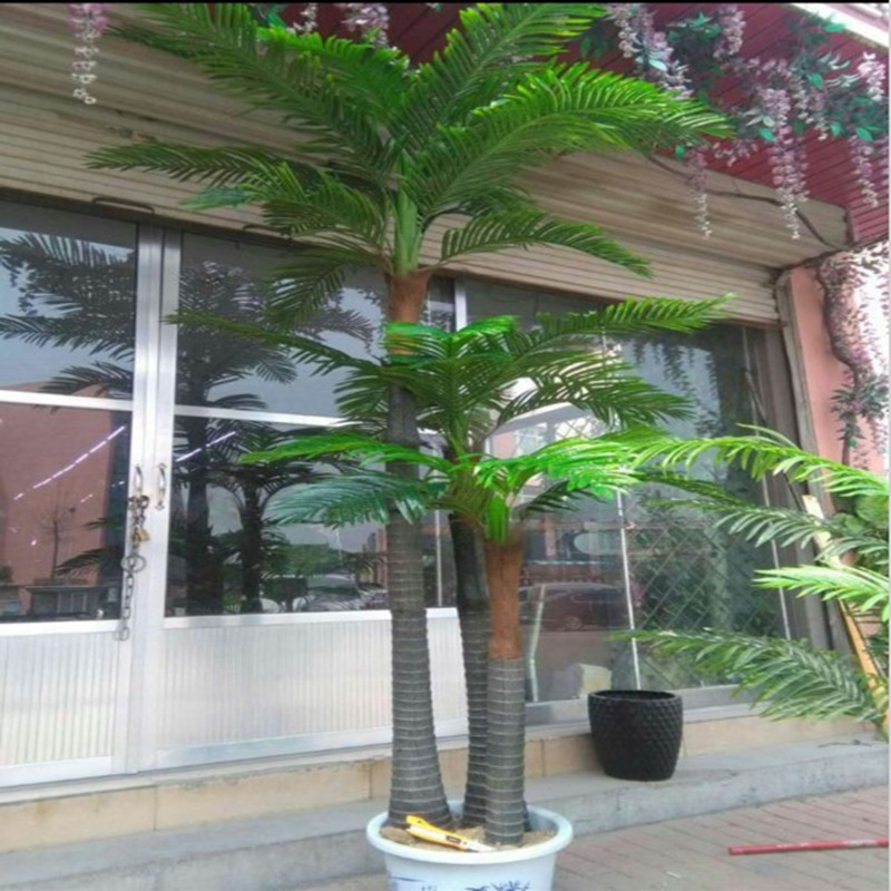 Large indoor and outdoor tropical landscape tree plant simulation simulation fake tree coconut trees coconut really trunk simulation coconut trees
