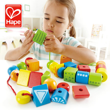 Large sets of wonderful hape creative beaded bead movement of logical thinking around the bead beaded baby toys for children