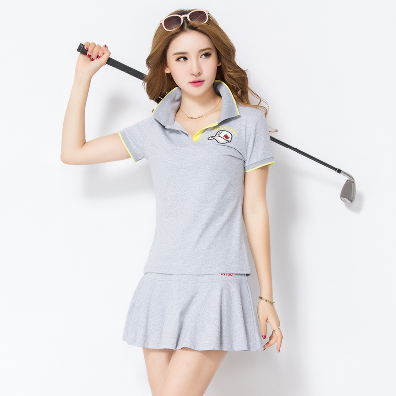 Large size men's sports baseball sportswear clothing tennis clothes culottes skirt female summer short sleeve skirt skirts leisure suit fat mm summer