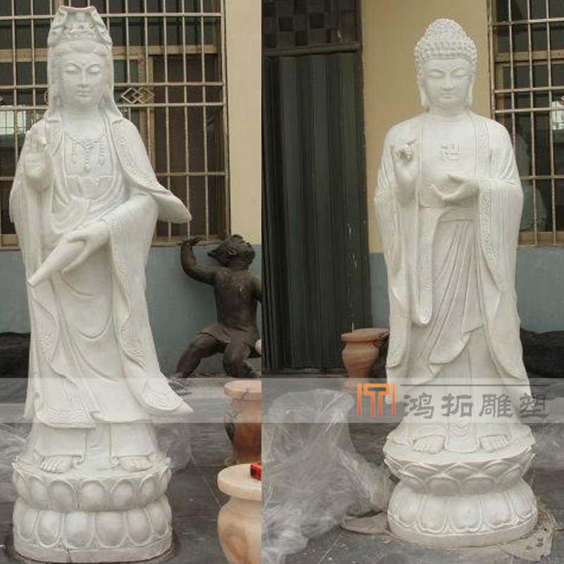 Large stone carving marble white marble stone marble guanyin buddha statues of buddha MS2580