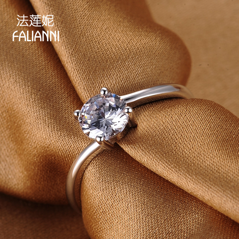 Law lanie handmade silver korea influx of ms. female ring wedding ring wedding ring simulation diamond ring diamond platinum plated