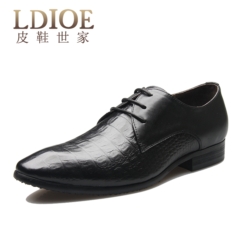 Ldioe spring minimalist shoes to help low tide shoes korean business dress genuine leather men's shoes