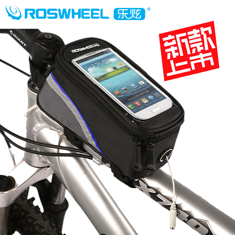 Le xuan bicycle mobile phone package dead coaster bike saddle bag on the tube bag touch phone package cell phone pocket
