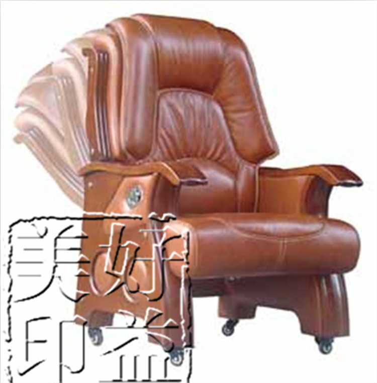 Leather chair boss chair reclining leather chair legs wood chair computer chair reclining leather office chair leather chair