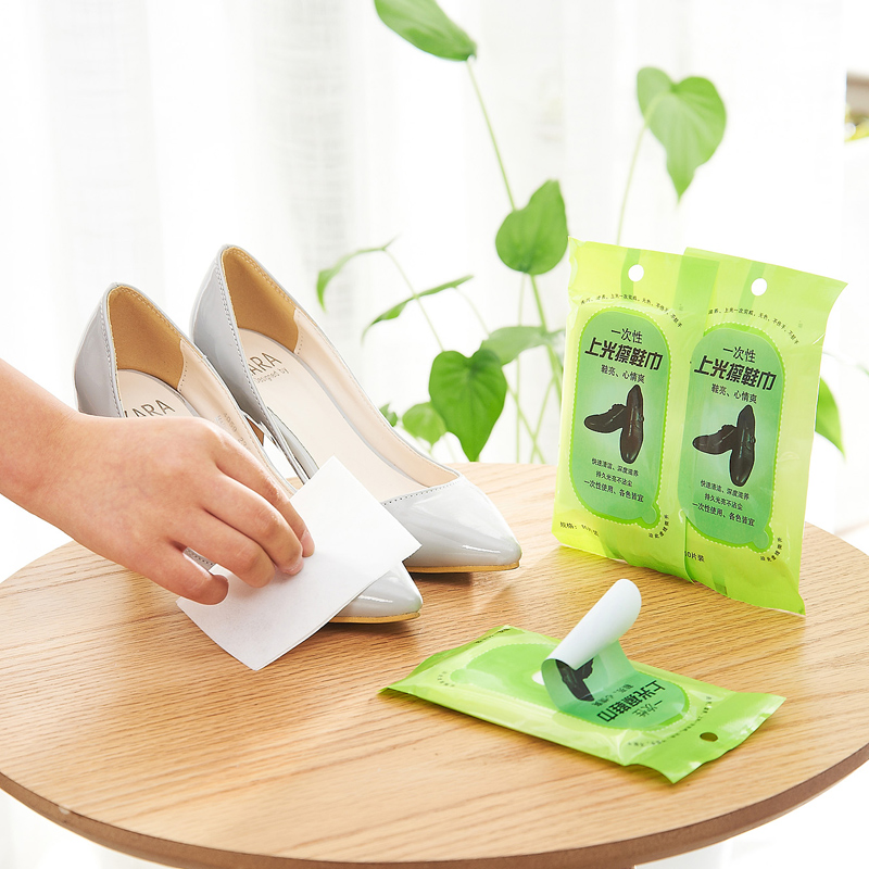 Leather shoes rub shoe polish wipes clean disposable towel shoe leather care wipes wipes 10 mounted