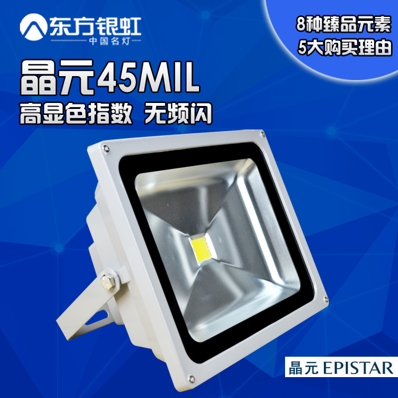 Led flood light epistar 45mil household outdoor lights floodlights advertising lights projection lamp 20 w 30w50w100w
