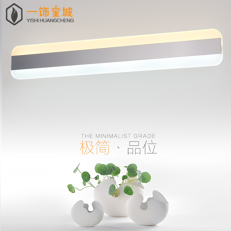 Led mirror light modern minimalist bathroom mirror front lamps bathroom wall lamp waterproof and dressing table mirror lights lamps