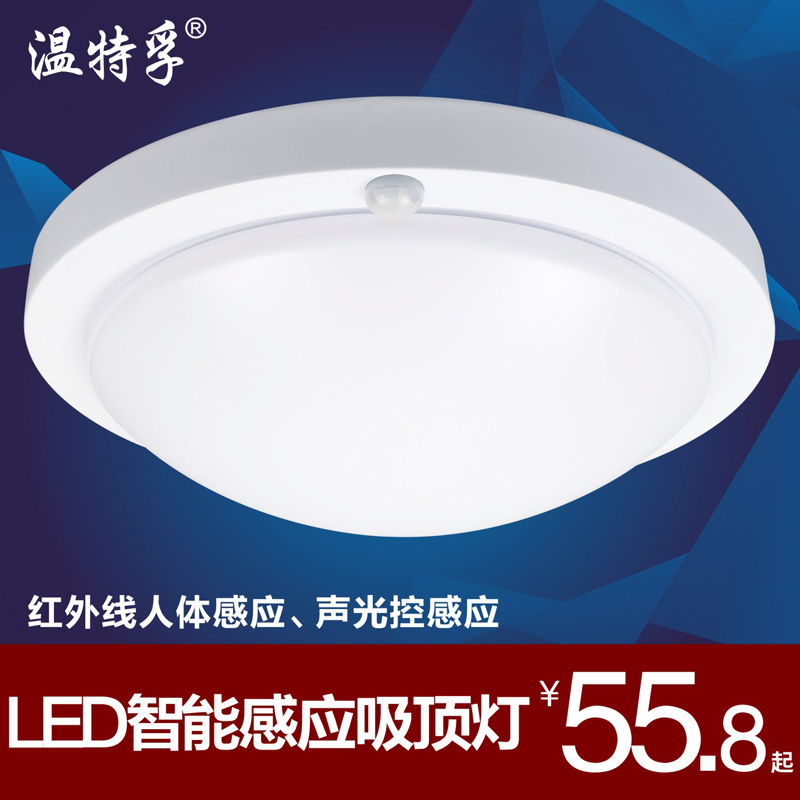 Led the human body sensor light corridor ceiling voice light control infrared garage stairs aisle lights balcony lights