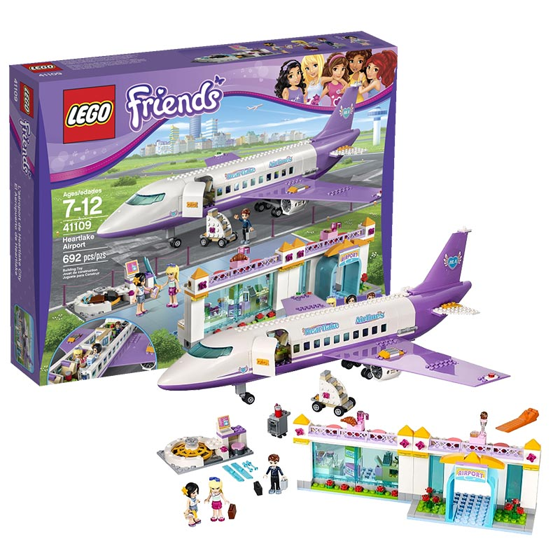 Lego lego girl friend series heart lake city airport building design for girls 41109
