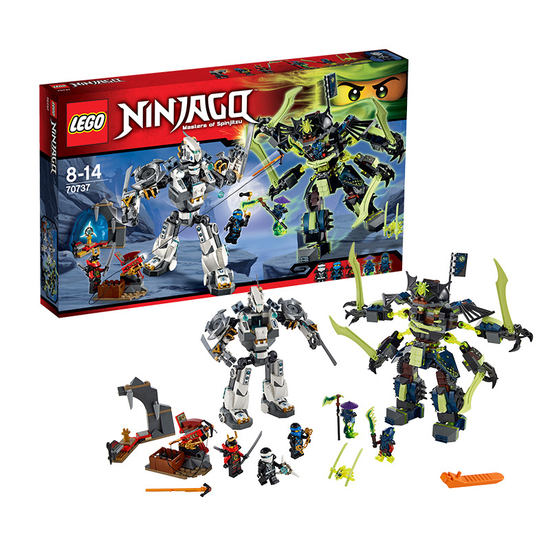 Lego/titan phantom ninja lego building blocks assembled children's toy robot armageddon 70737