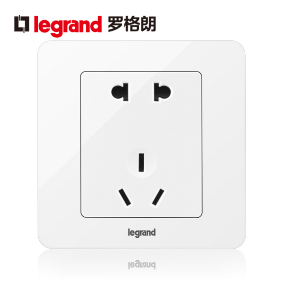 Legrand switch socket 86 type switch socket panel wall switch socket yi dian five hole socket panel