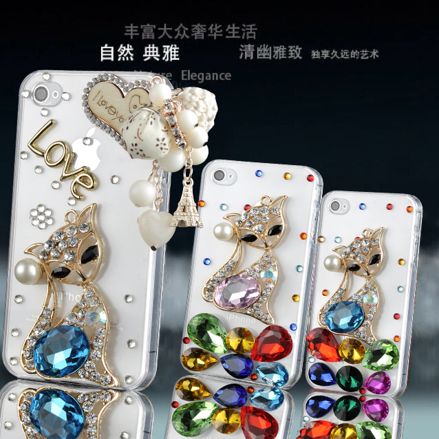 Lenovo a630e a850 a880/a889 mobile phone sets diamond k80/K80M/p90 p90 protective shell diamond fox