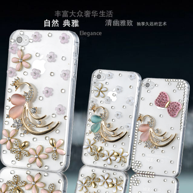 Lenovo a630e a850 a880/a889 mobile phone shell diamond sets k80/K80M/p90 protective shell small peacock
