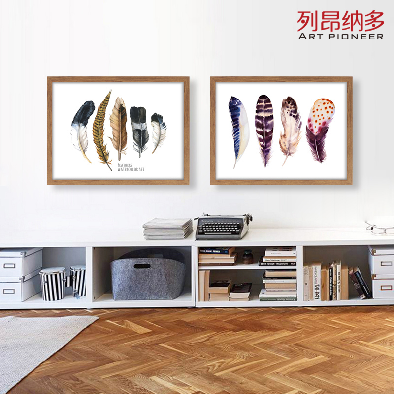 Leonardo small fresh decorative painting still life painting mural paintings bedroom living room dining minimalist waterproof feathers
