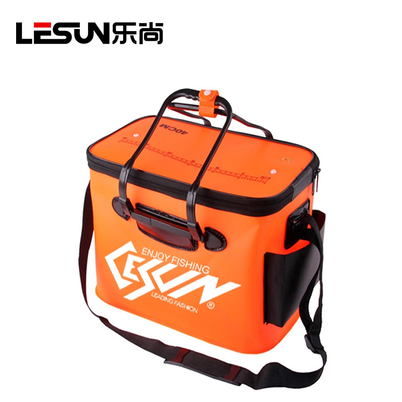 Lesun thick eva folding bucket fishing bucket with breathable mesh fishing box fishing box fishing taiwan fishing box bucket