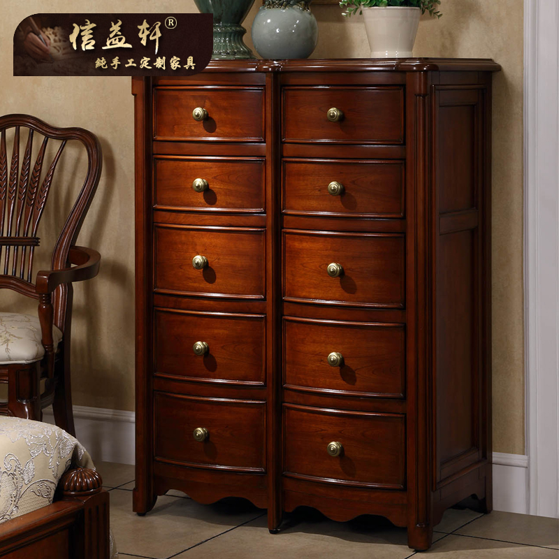 Letter benefits euclidian ten xuan upscale custom furniture american side cabinet corner cabinet wood chest of drawers sideboard DG-004