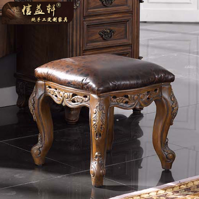 Letter benefits xuan custom furniture american wood leather dressing stool stool piano stool zither stool stool stool changing his shoes