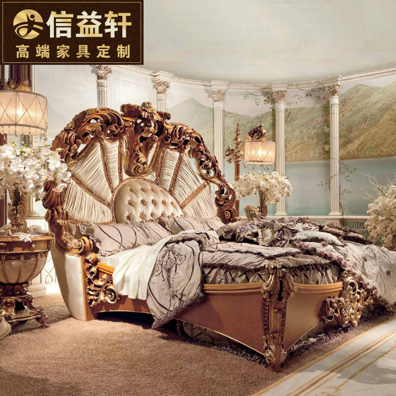 Letter benefits xuan european fabric bed double bed 1.8 m french bed wood bed continental bed french bed bedroom marriage bed