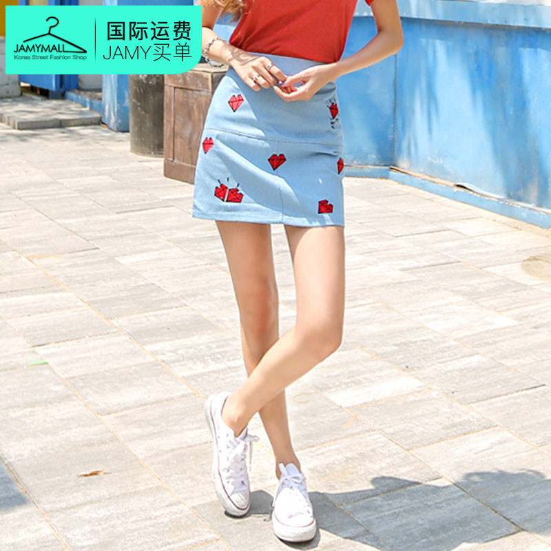 Letter dated 2016 from the planj korea genuine charm summer new fashion classic popular comfort skirt
