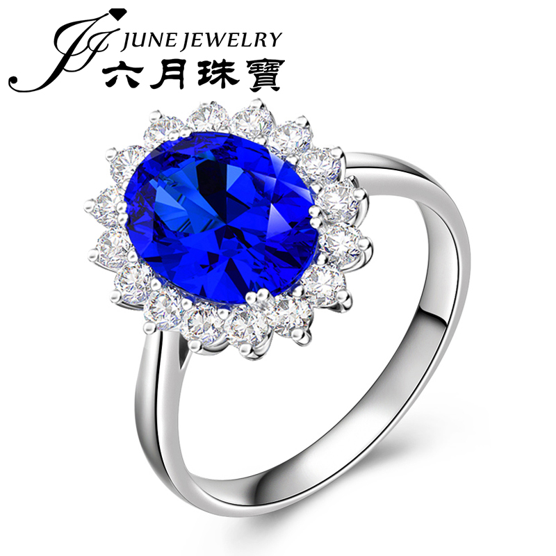 Letter dated June from the jewelry diana paragraph 1.2 karat kt natural tanzanite ring k gold diamond nvjie multicolored custom