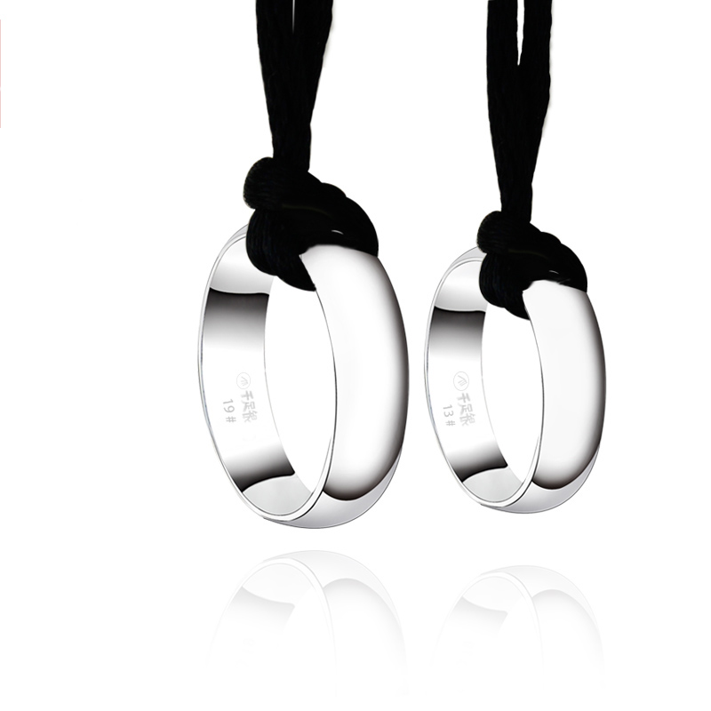 Lettering couple rings 990 sterling silver necklace female silver pendant creative men and a korean version of lord of the rings lord of the rings decorated with