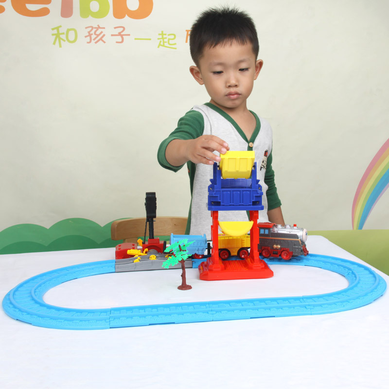 Li xin thomas electric train rail car puzzle assembling toys for children multifunctional