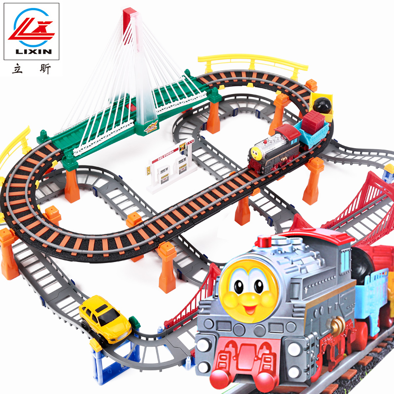Li xin thomas train toy electric train track suit children's toy car racing boy thanmonolingualsat