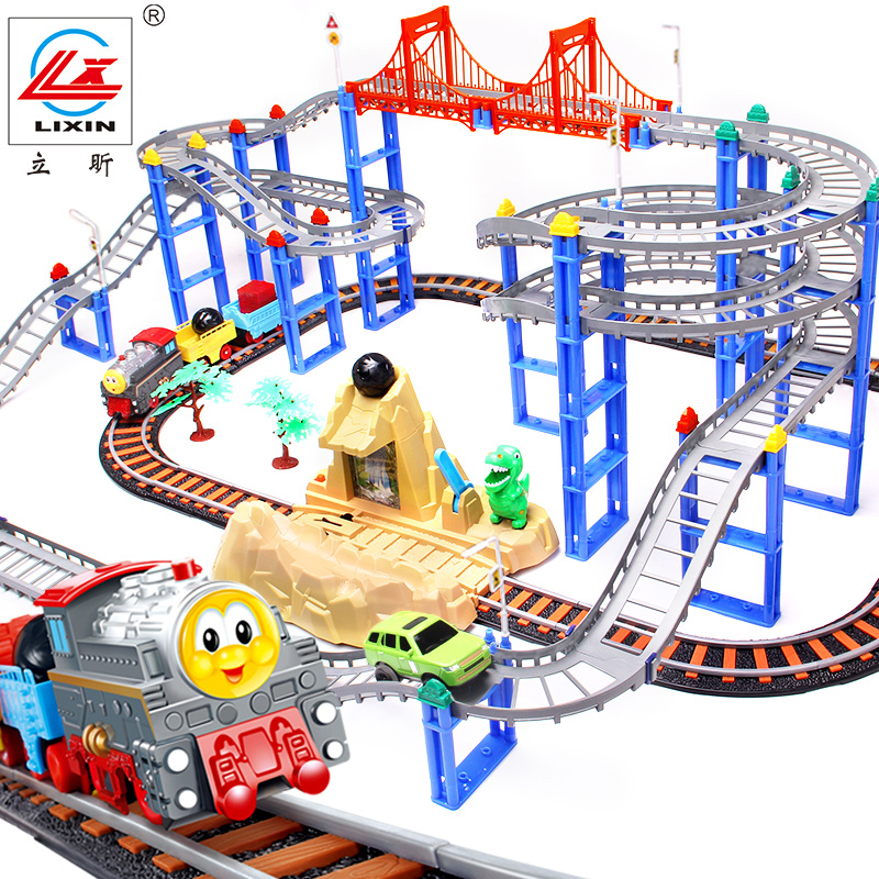 Li xin thomas train track electric rail car toys suit large children's toys 3 year old boy