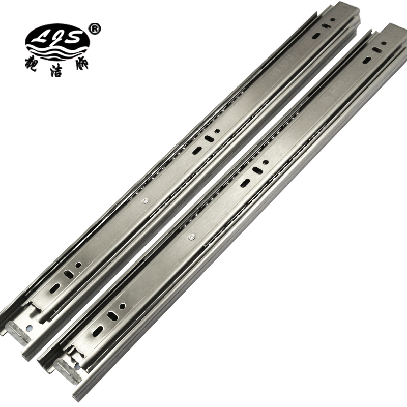 Liang jie decorated with the new ball rail track mute three drawer slide rail furniture hardware accessories a price to pay 2