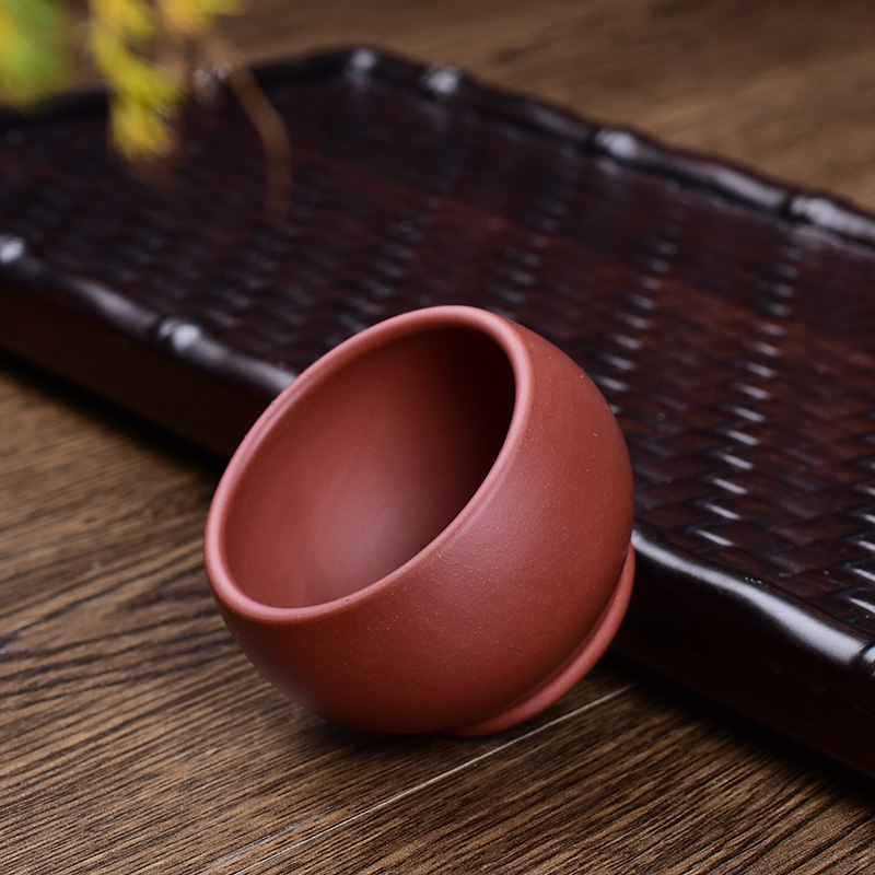 Life hall handmade handmade yixing purple clay tea cup teacup tea cup kung fu masters cup small cup child tea