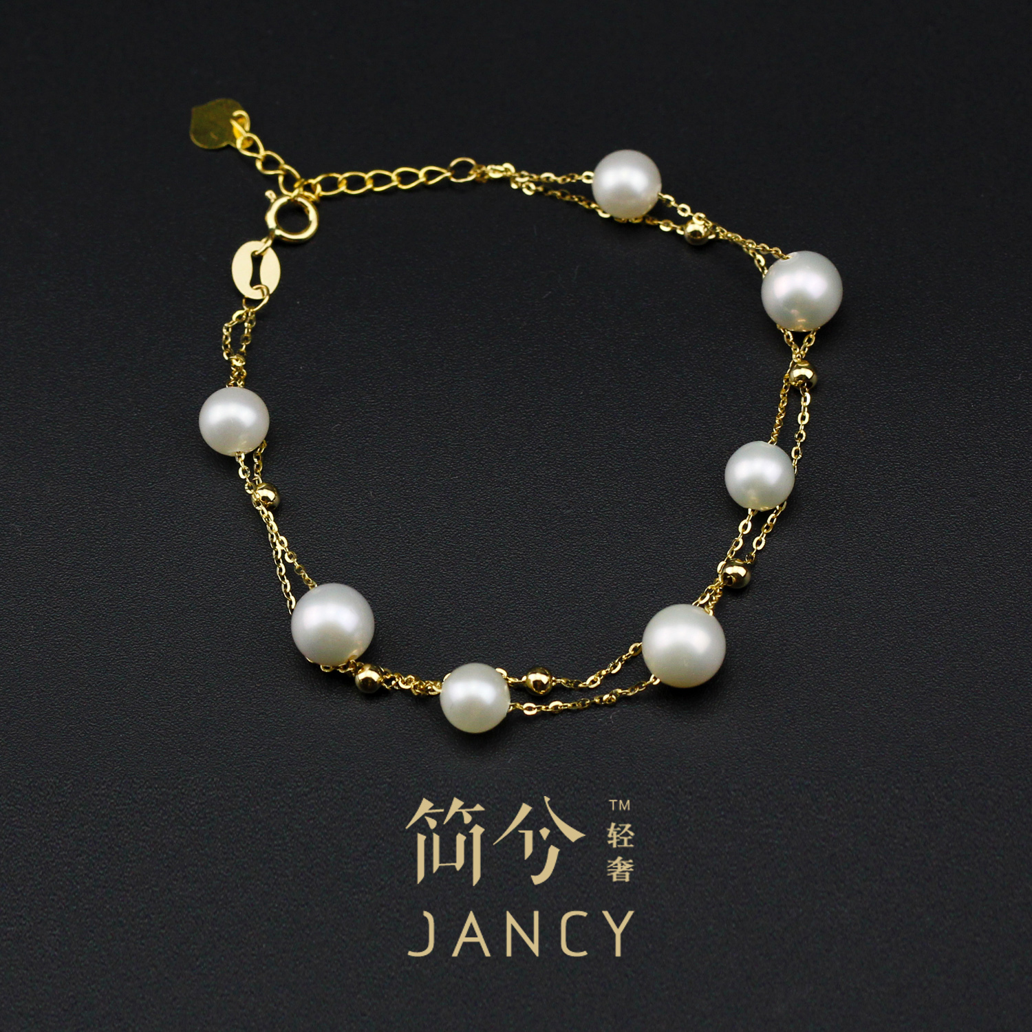 Light extravagantç®å…®ciq certificate south korean custom pure k gold natural pearl bracelet can be adjusted japan and south korea wild