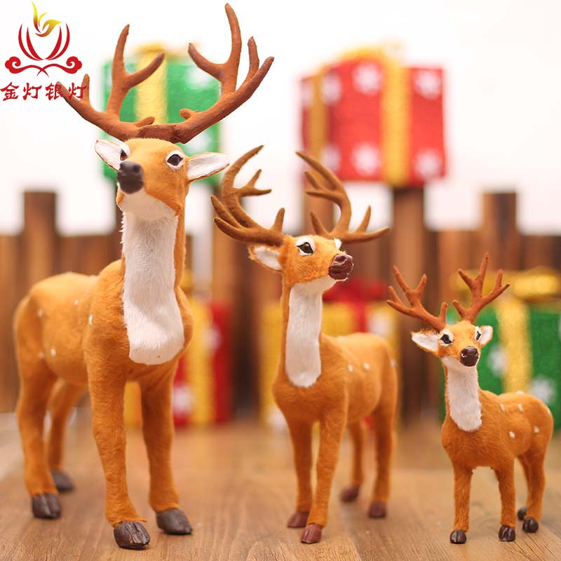 Light yindeng christmas deer christmas deer christmas decorations mall hotel scene layout window decoration holiday gift
