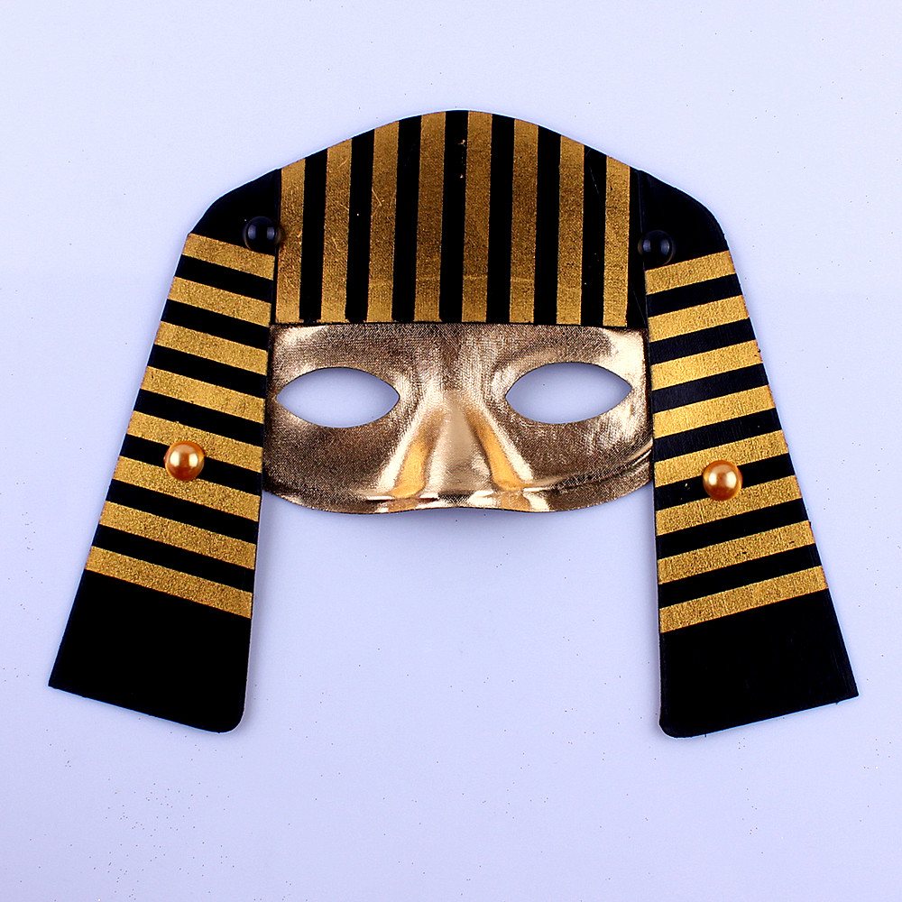 Lin fang g egyptian pharaoh halloween mask masquerade mask party mask half face mask face with