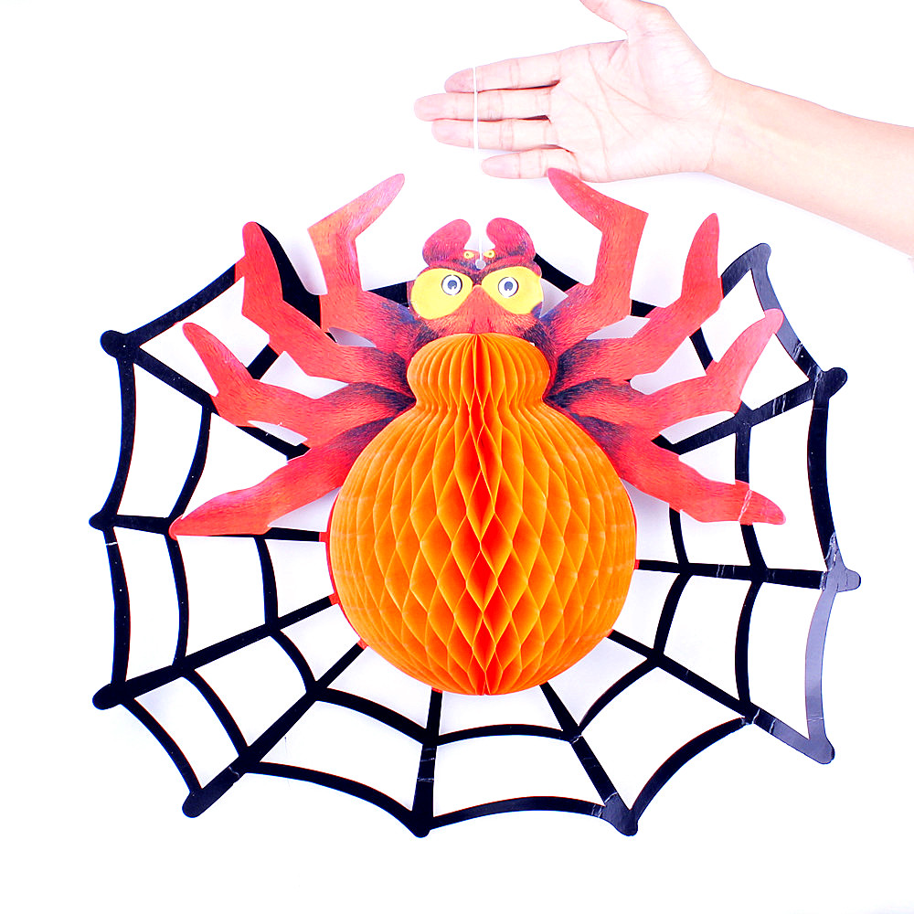 Lin fang g halloween decoration halloween props bar supplies decorative lantern ornaments funny spider charm
