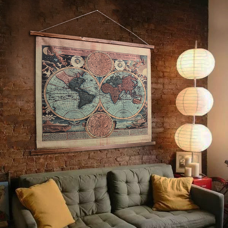 Linen american retro home decorative paintings den wall wine bar background wall decorations wall hangings creative pendant