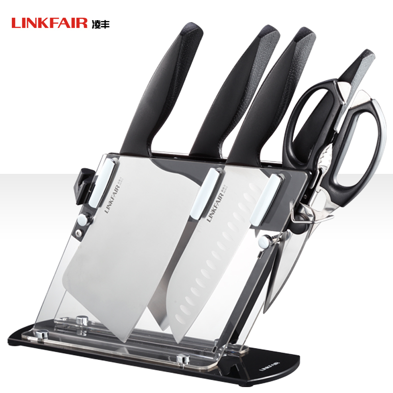 Ling feng 304 stainless steel chopping knife knifed knives stainless steel kitchen tool kit six sets of knives