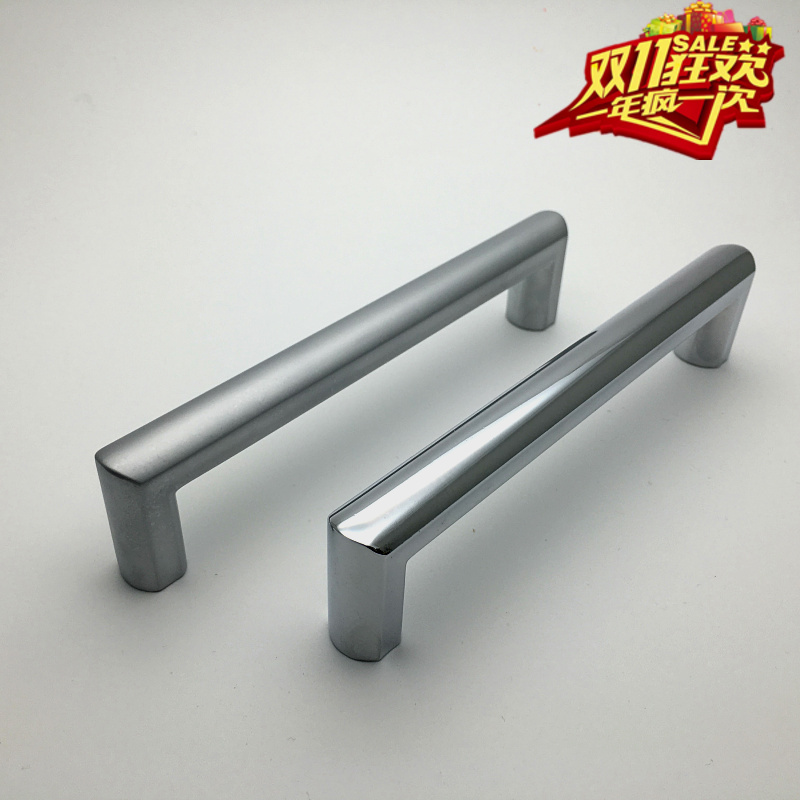Ling shi factory direct zinc alloy handle modern minimalist cabinet door handle chinese furniture american wardrobe cabinet drawer handle