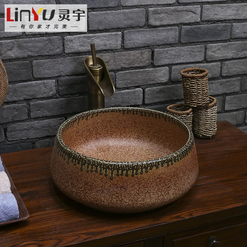 Ling yu decoration new jingdezhen ceramic art basin art basin wash basin wash basin wash basin 55