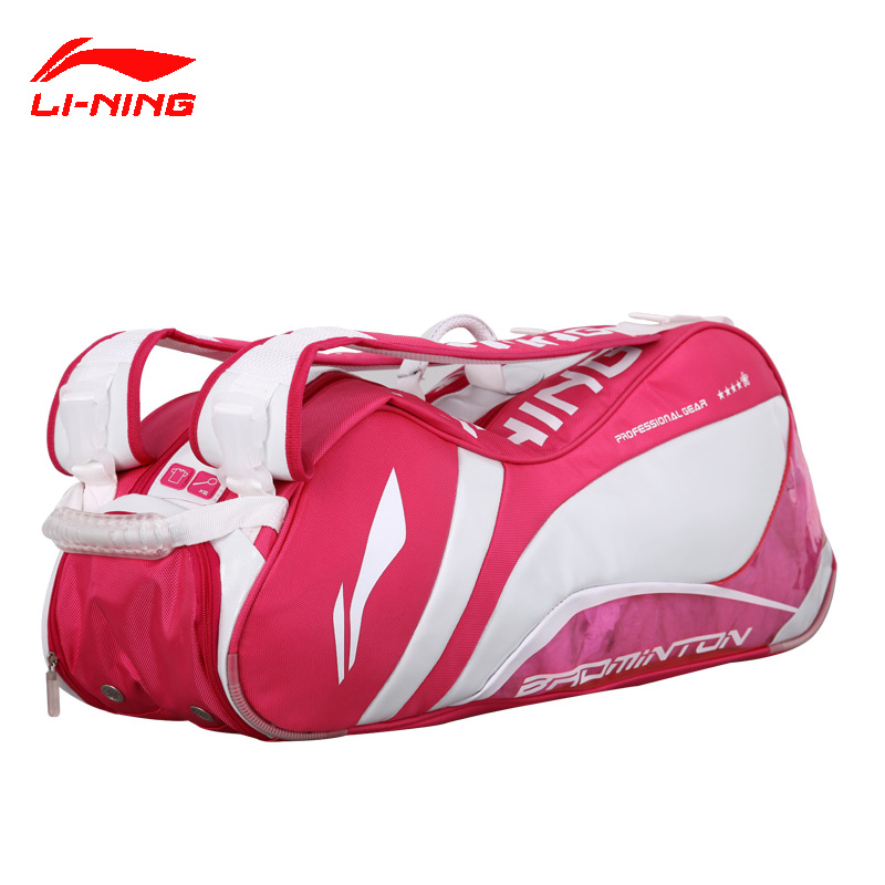 Lining badminton bag six loaded 6 loaded badminton racket bag backpack sports bag independent shoe