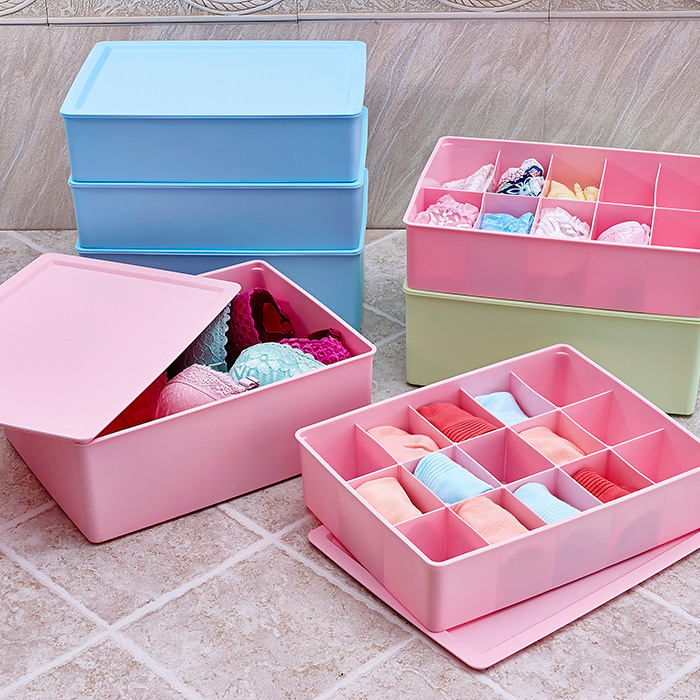 Liu shi han bra panties underwear storage box three sets of plastic storage box storage consolidation