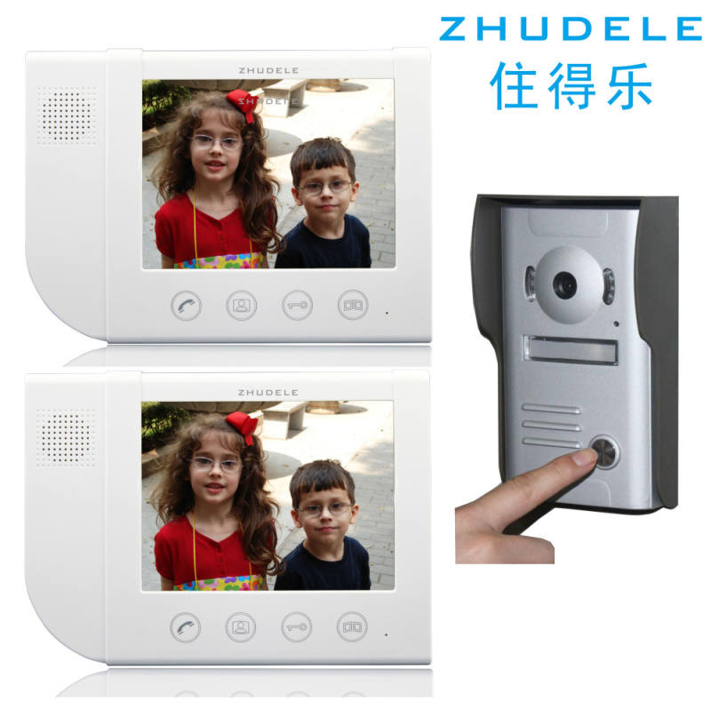 Live music 8.3 inch screen color video intercom doorbell doorbell one with two 700 line 638M2