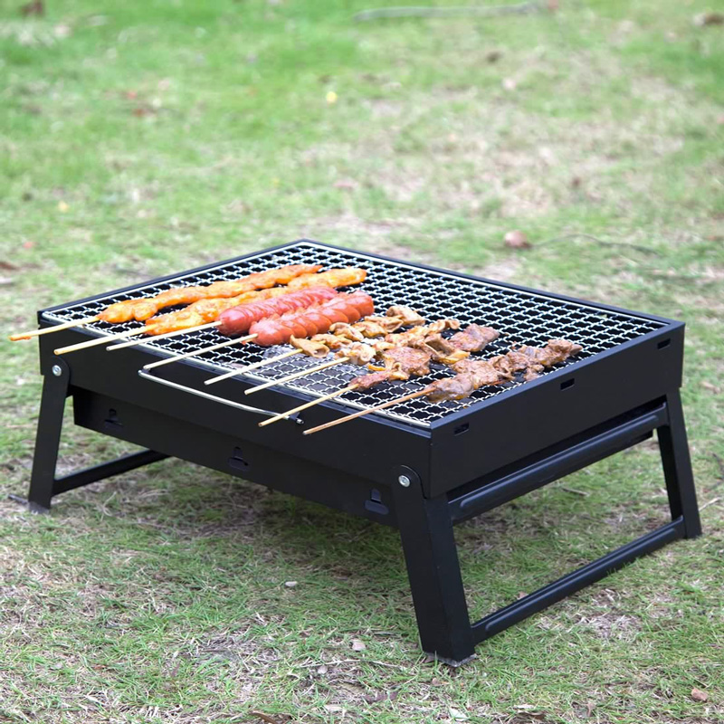 Living at home outdoor barbecue grill portable charcoal grill outdoor folding outdoor bbq grill home oven