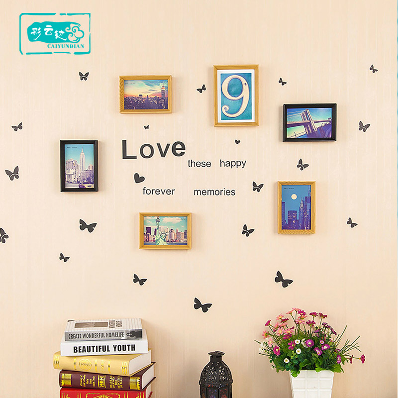 Living room photo wall photo wall combination photo frame european children's creative combination photo wall photo wall photo frame wall box 6 inch 7 inch