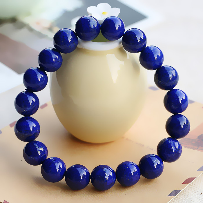 Llt genuine natural afghan lapis lazuli imperial blue lapis lazuli bracelet bracelets bracelet male and female models