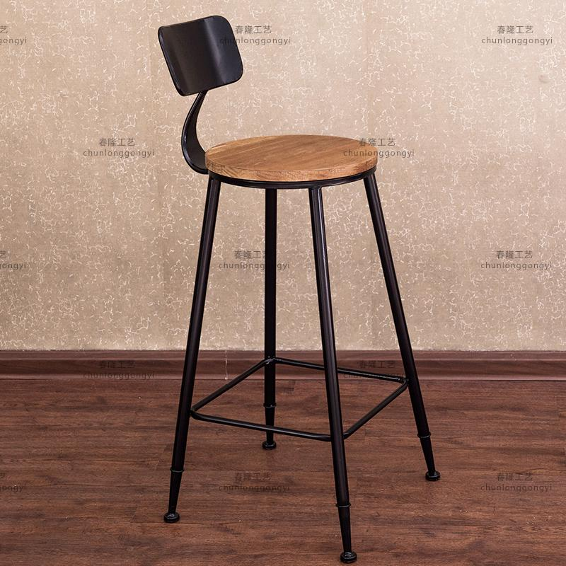 Loft american country retro industrial wind montgomery iron bar chair leisure chair bar stool chair backrest