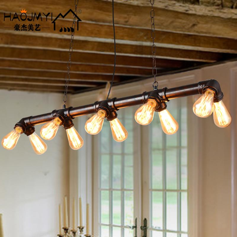 Loft american country retro nostalgia and creative restaurant lights antique chandelier cafe bar industrial wind pipe